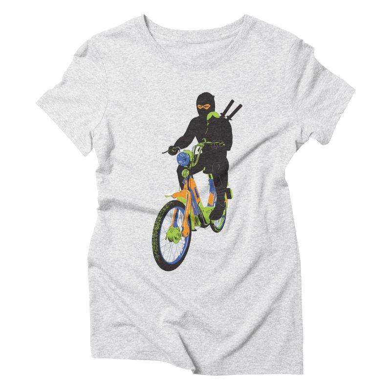 moped ninja Women's Triblend T-Shirt by alexaustindesign's Artist Shop