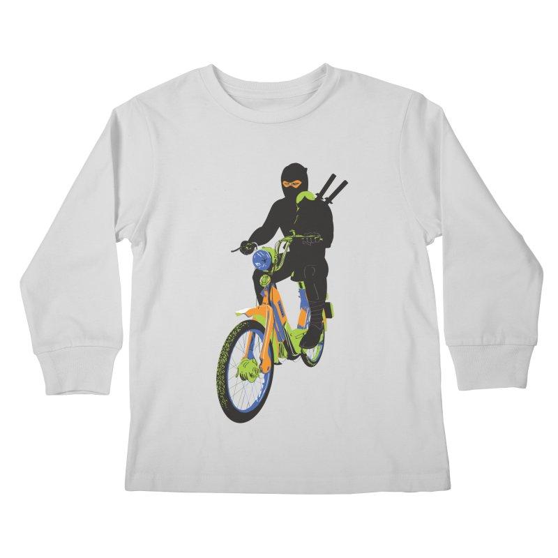 The Moped Ninja Kids Longsleeve T-Shirt by Alex Austin Design Shop