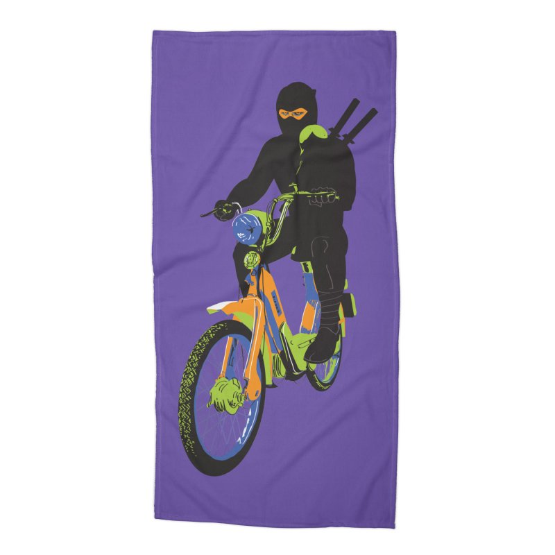 moped ninja Accessories Beach Towel by alexaustindesign's Artist Shop
