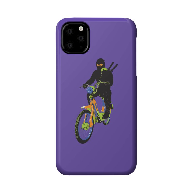 moped ninja Accessories Phone Case by alexaustindesign's Artist Shop