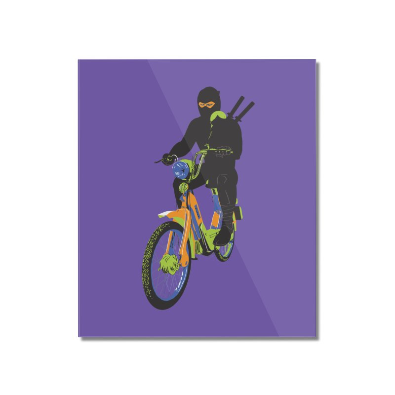 moped ninja Home Mounted Acrylic Print by alexaustindesign's Artist Shop