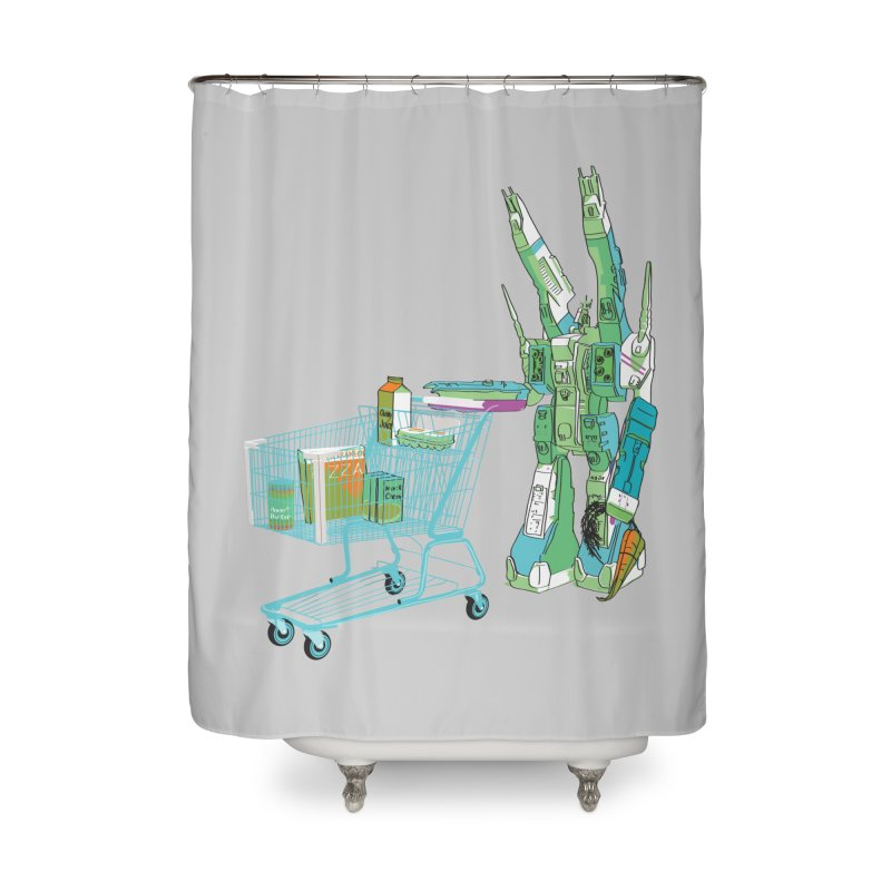 super dimensional fortresses are people too Home Shower Curtain by alexaustindesign's Artist Shop