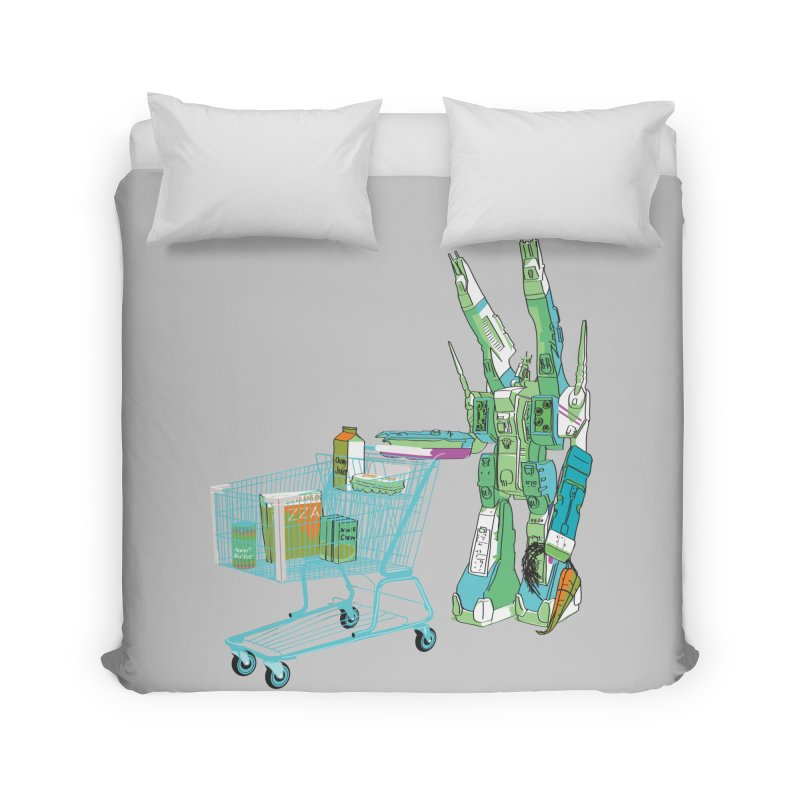 Super Dimensional Fortresses Are People Too Home Duvet by Alex Austin Design Shop