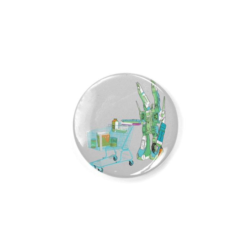 Super Dimensional Fortresses Are People Too Accessories Button by Alex Austin Design Shop