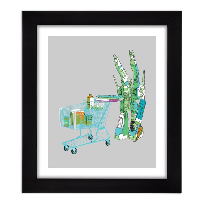 Super Dimensional Fortresses Are People Too Home Framed Fine Art Print by Alex Austin Design Shop