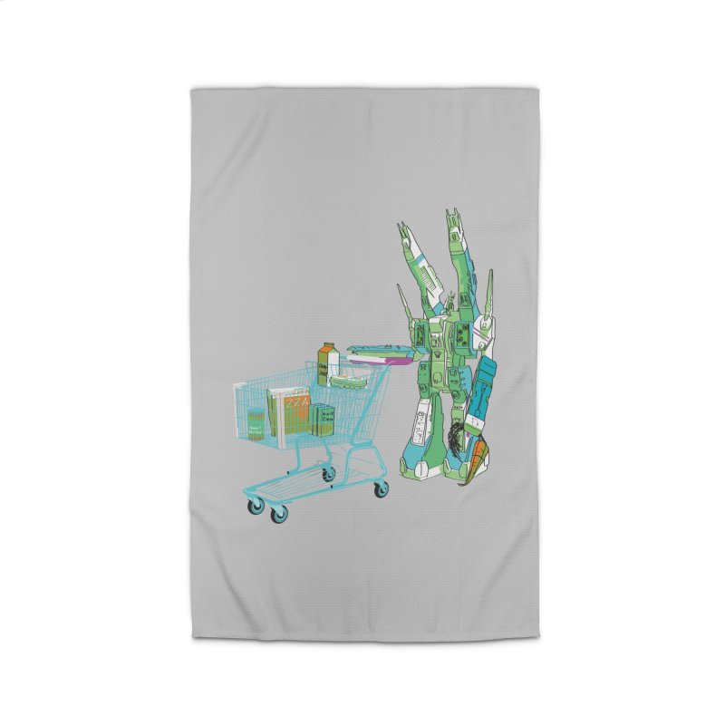 Super Dimensional Fortresses Are People Too Home Rug by Alex Austin Design Shop
