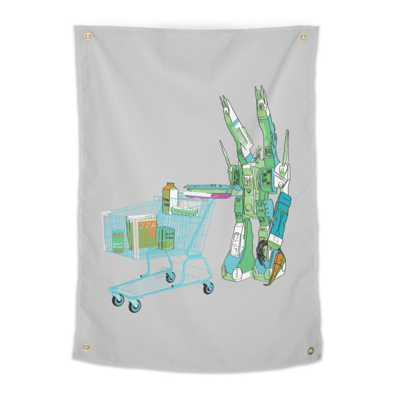 Super Dimensional Fortresses Are People Too Home Tapestry by Alex Austin Design Shop