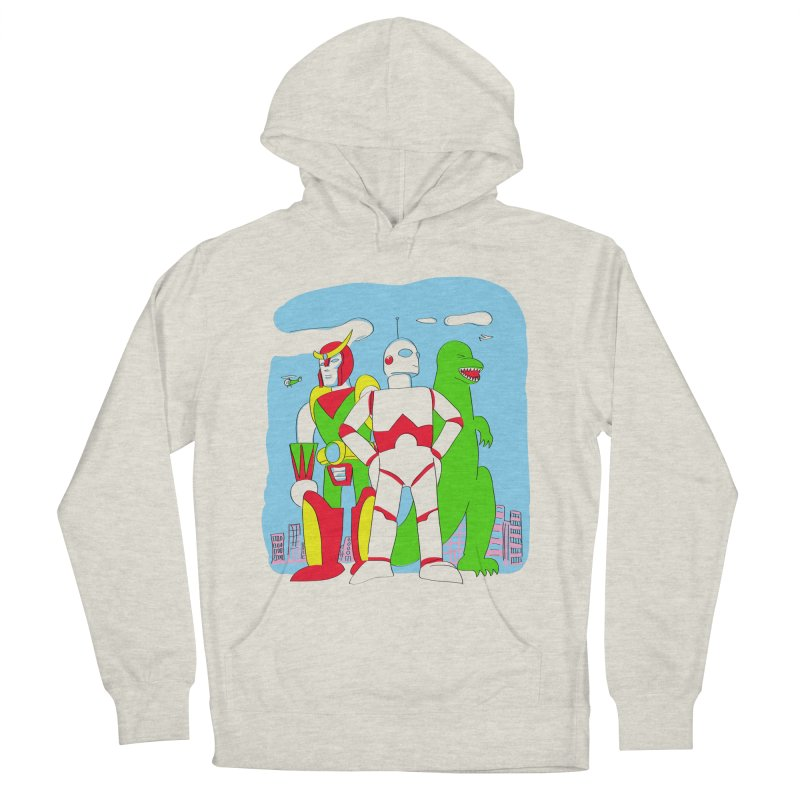 robots and monsters Women's French Terry Pullover Hoody by alexaustindesign's Artist Shop