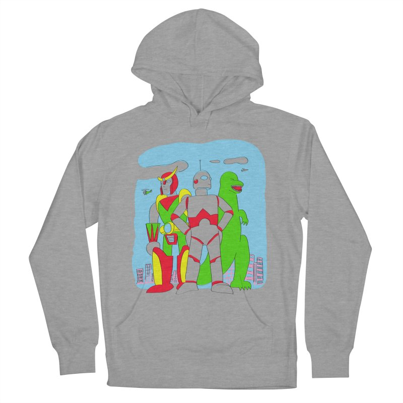 robots and monsters Men's French Terry Pullover Hoody by alexaustindesign's Artist Shop