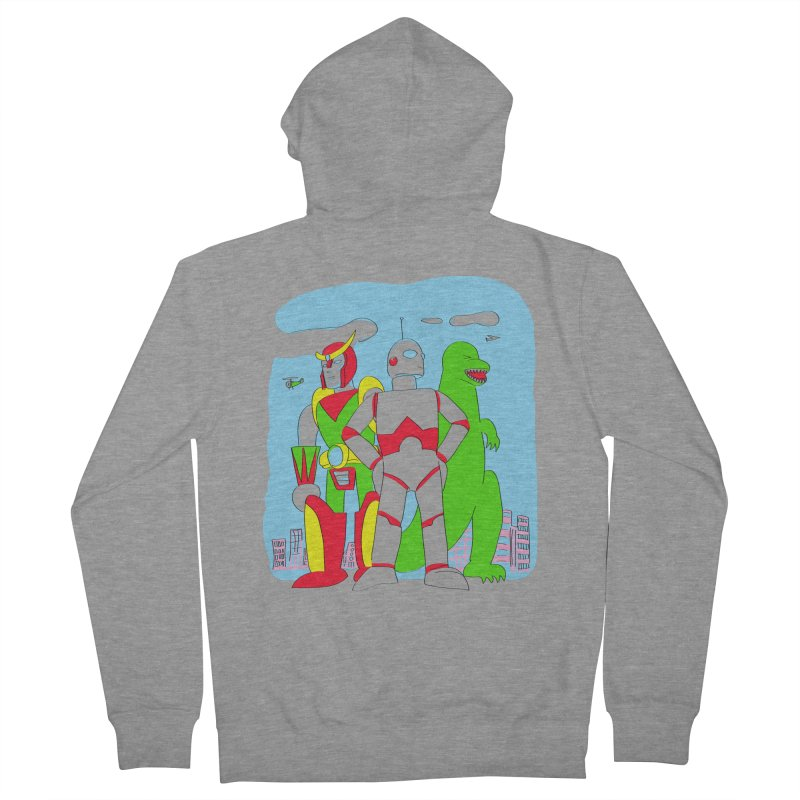 robots and monsters Women's French Terry Zip-Up Hoody by alexaustindesign's Artist Shop