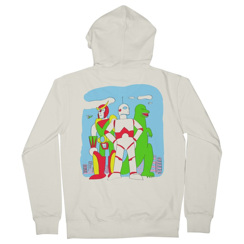 robots and monsters Men's French Terry Zip-Up Hoody by alexaustindesign's Artist Shop