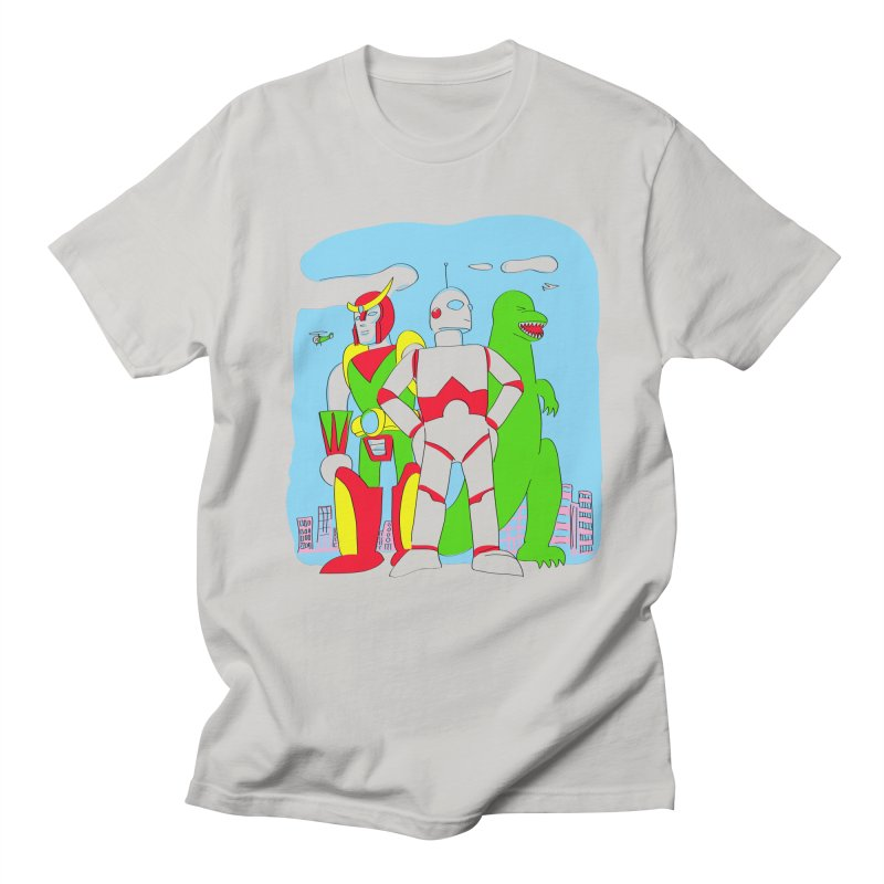 robots and monsters Men's Regular T-Shirt by alexaustindesign's Artist Shop