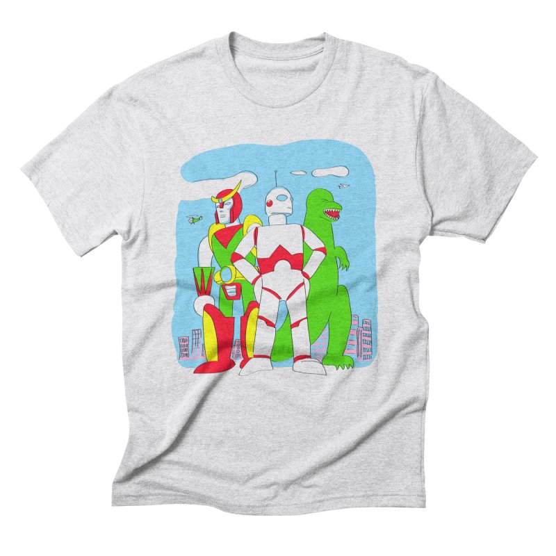robots and monsters Men's Triblend T-Shirt by alexaustindesign's Artist Shop