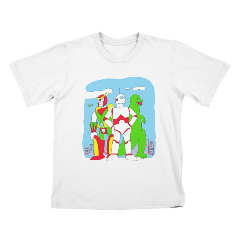 robots and monsters Kids T-Shirt by alexaustindesign's Artist Shop