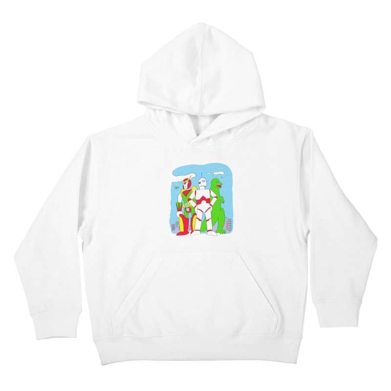 robots and monsters Kids Pullover Hoody by alexaustindesign's Artist Shop