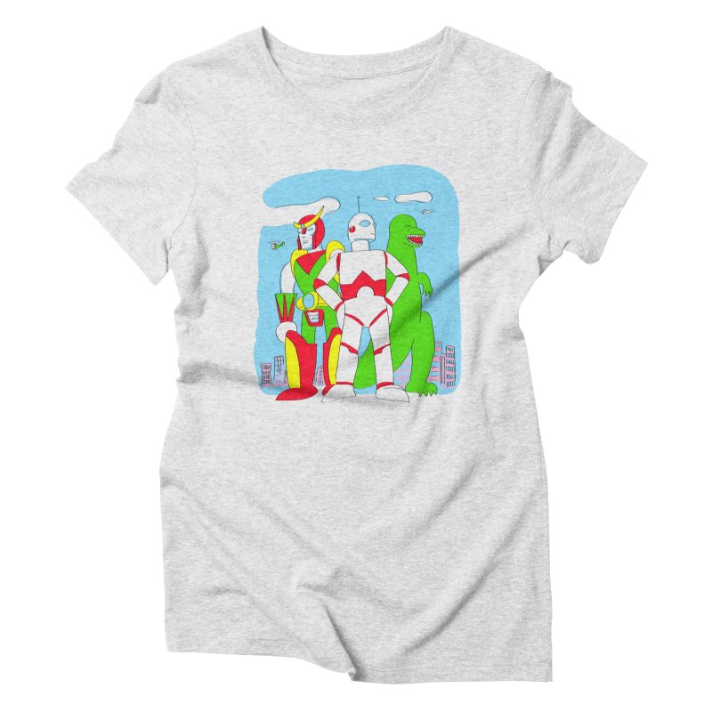 robots and monsters Women's Triblend T-Shirt by alexaustindesign's Artist Shop