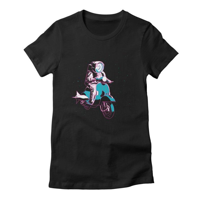The Vespanaut Women's T-Shirt by Alex Austin Design Shop