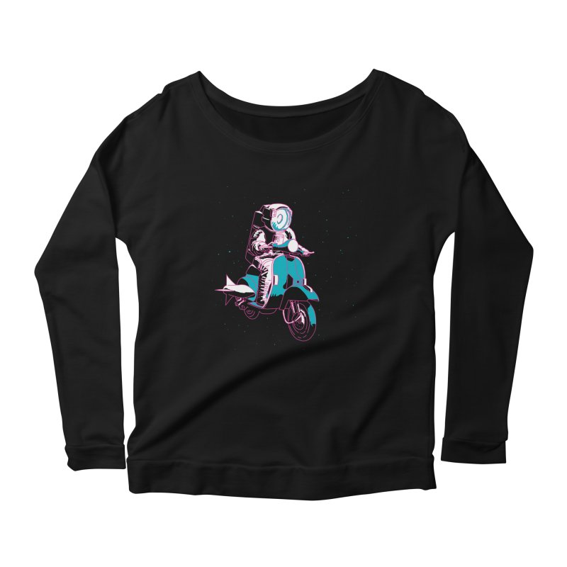 vespanaut Women's Scoop Neck Longsleeve T-Shirt by alexaustindesign's Artist Shop