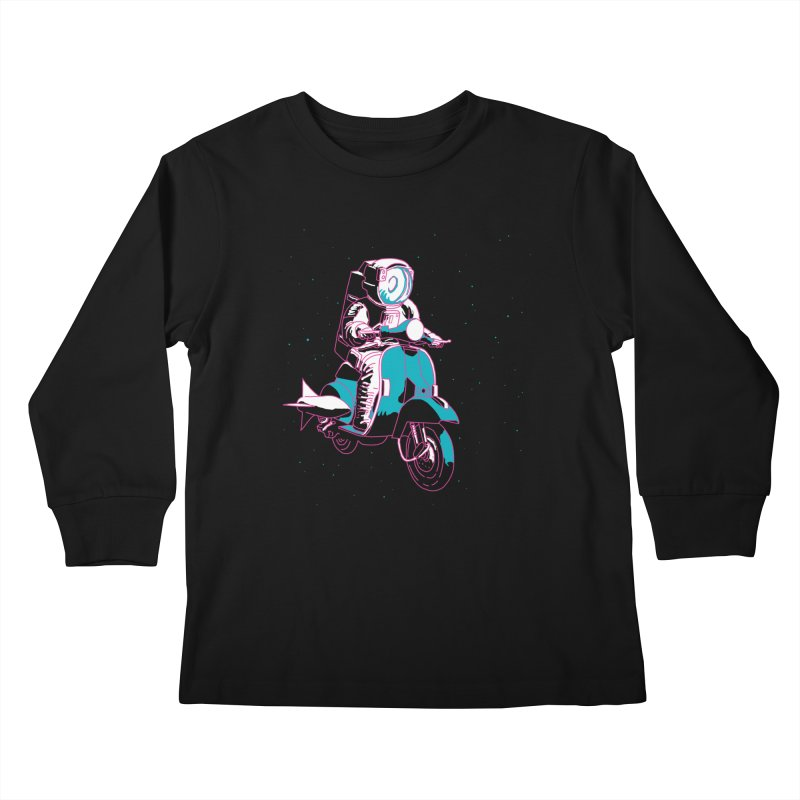 vespanaut Kids Longsleeve T-Shirt by alexaustindesign's Artist Shop