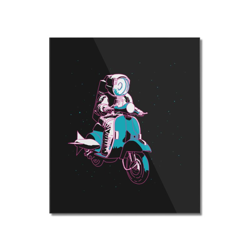vespanaut Home Mounted Acrylic Print by alexaustindesign's Artist Shop