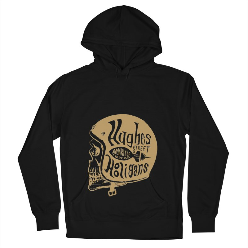 Hughes Street Hooligans – Gold / Black Women's French Terry Pullover Hoody by alexaustindesign's Artist Shop