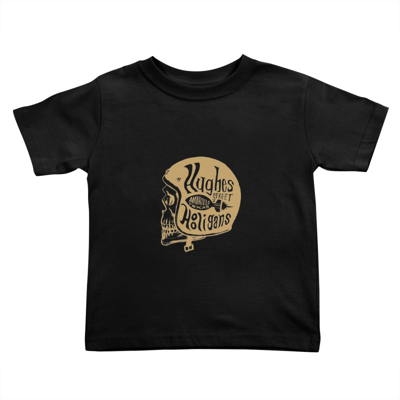 Hughes Street Hooligans – Gold / Black Kids Toddler T-Shirt by alexaustindesign's Artist Shop