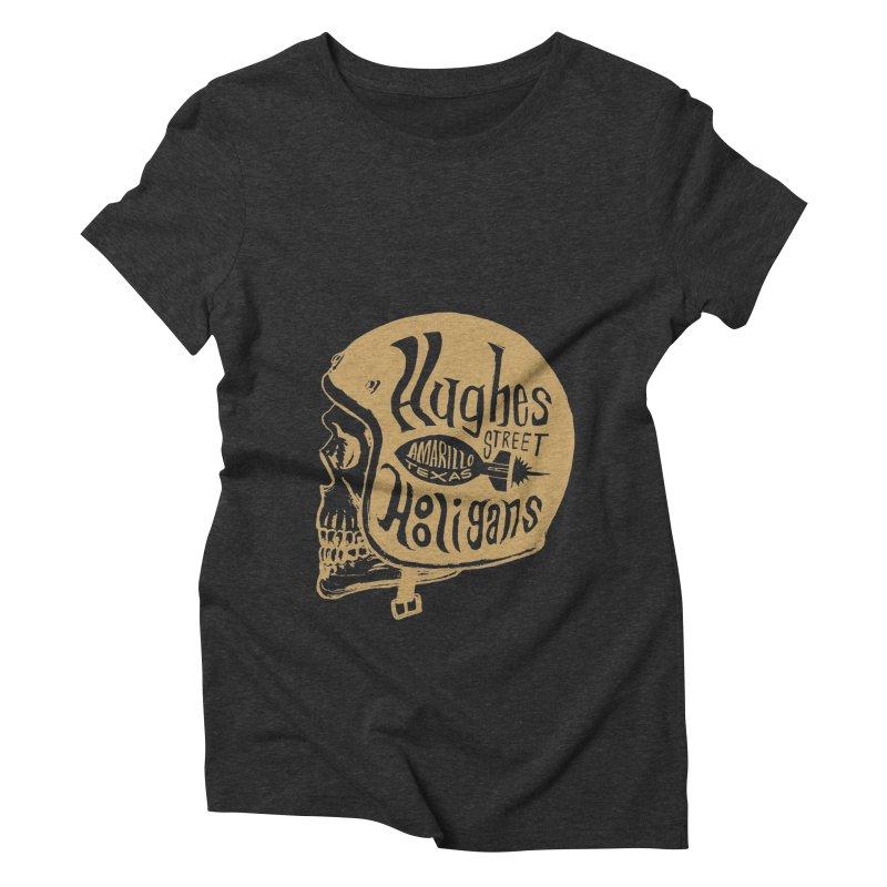 Hughes Street Hooligans – Gold / Black Women's Triblend T-Shirt by alexaustindesign's Artist Shop