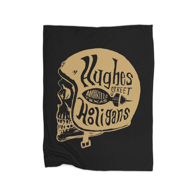 Hughes Street Hooligans – Gold / Black Home Fleece Blanket Blanket by alexaustindesign's Artist Shop