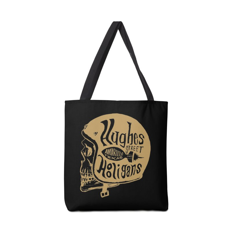 Hughes Street Hooligans – Gold / Black Accessories Tote Bag Bag by alexaustindesign's Artist Shop