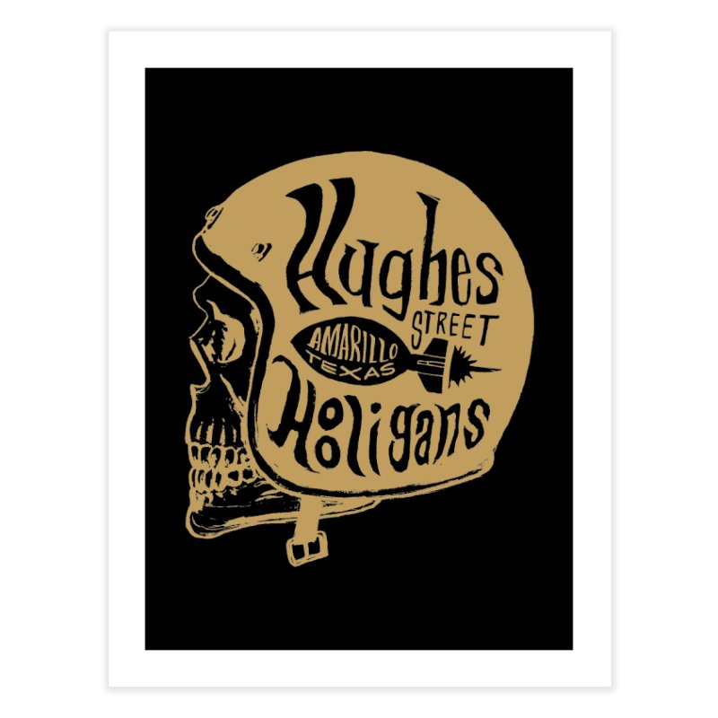 Hughes Street Hooligans – Gold / Black Home Fine Art Print by alexaustindesign's Artist Shop