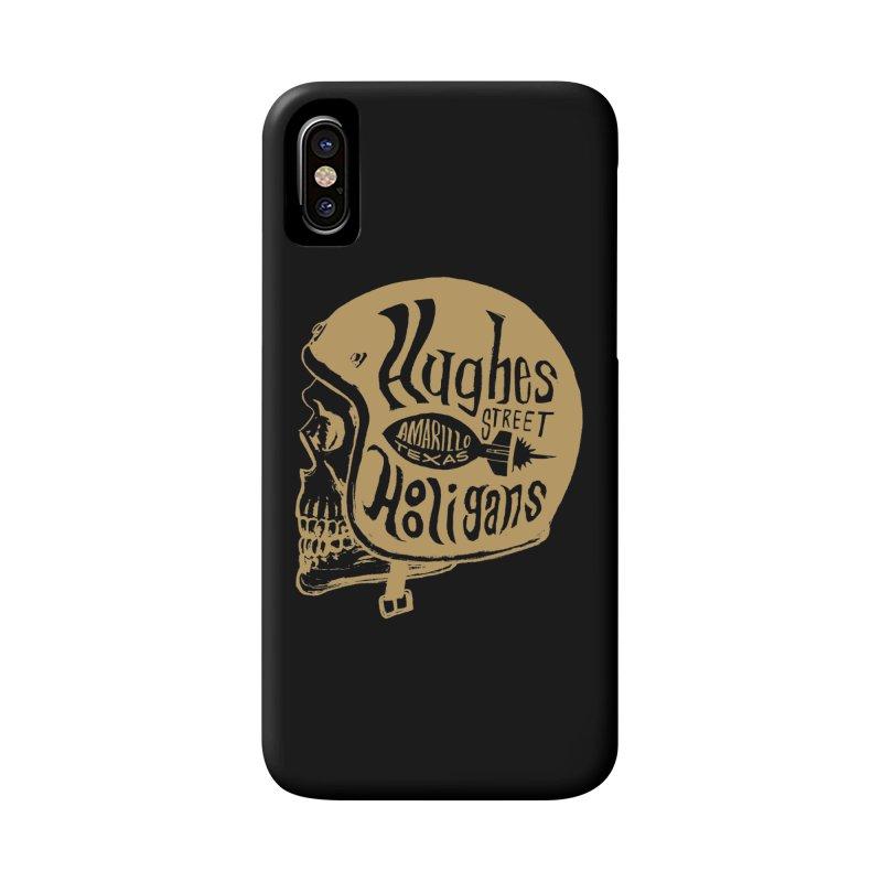 Hughes Street Hooligans – Gold / Black Accessories Phone Case by alexaustindesign's Artist Shop