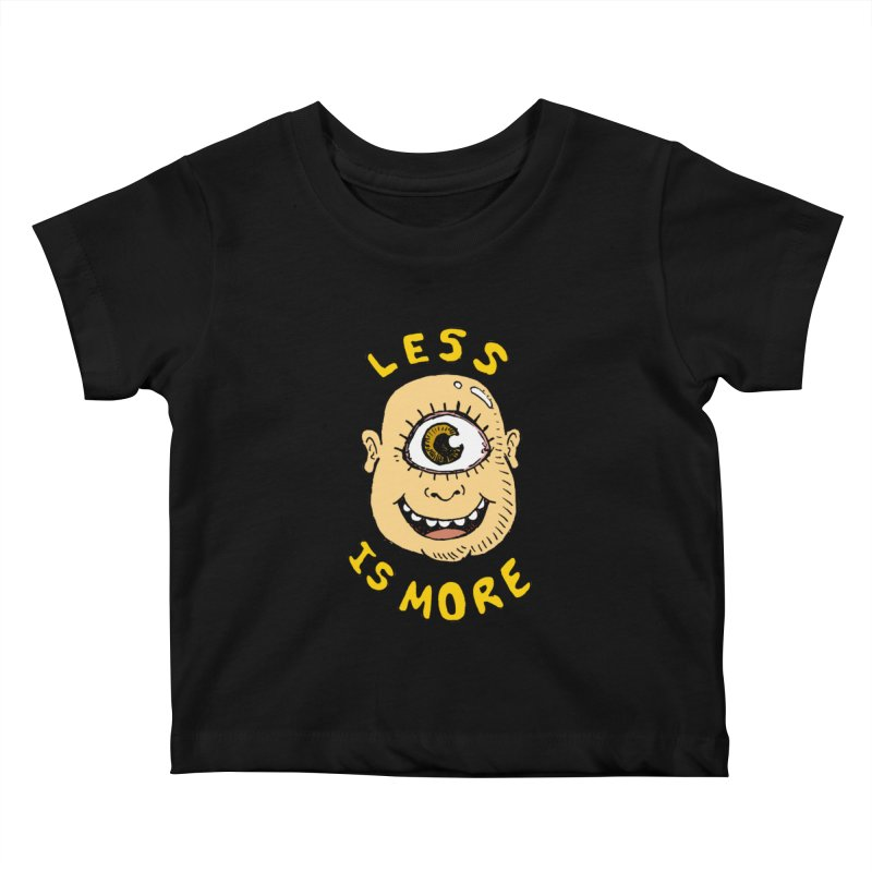 Less is more Kids Baby T-Shirt by alexcortez's Artist Shop