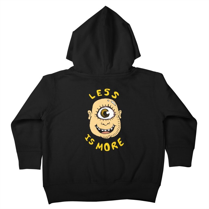 Less is more Kids Toddler Zip-Up Hoody by alexcortez's Artist Shop