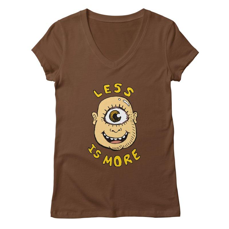 Less is more Women's V-Neck by alexcortez's Artist Shop