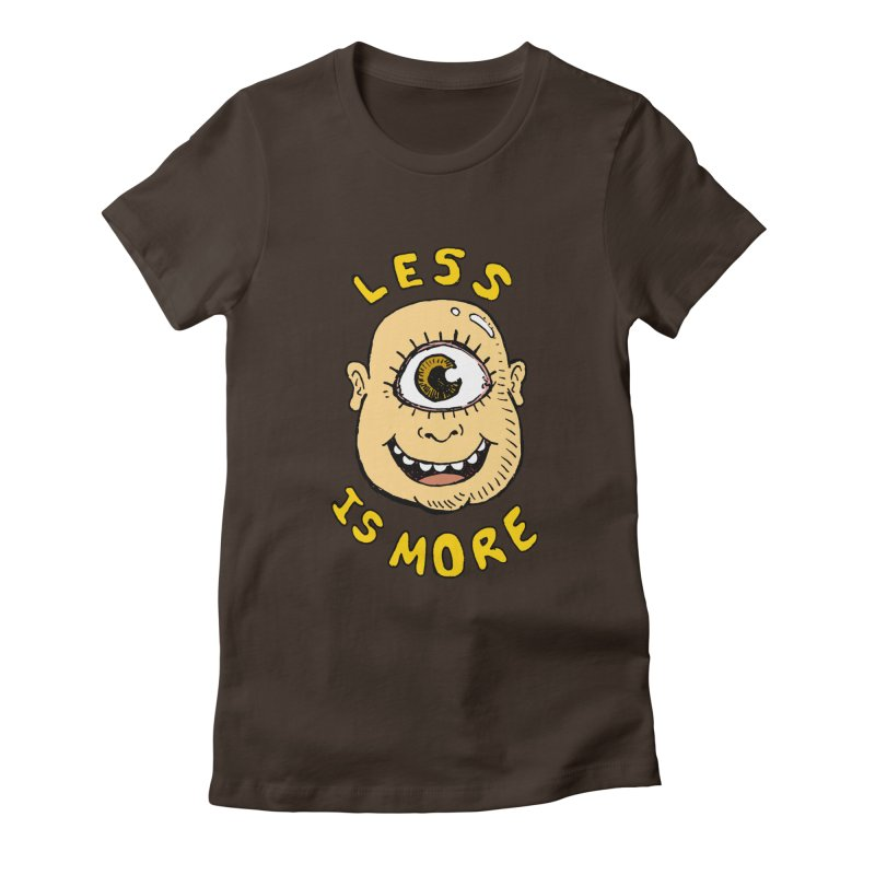 Less is more Women's Fitted T-Shirt by alexcortez's Artist Shop
