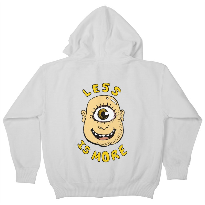 Less is more Kids Zip-Up Hoody by alexcortez's Artist Shop