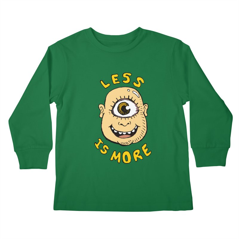 Less is more Kids Longsleeve T-Shirt by alexcortez's Artist Shop