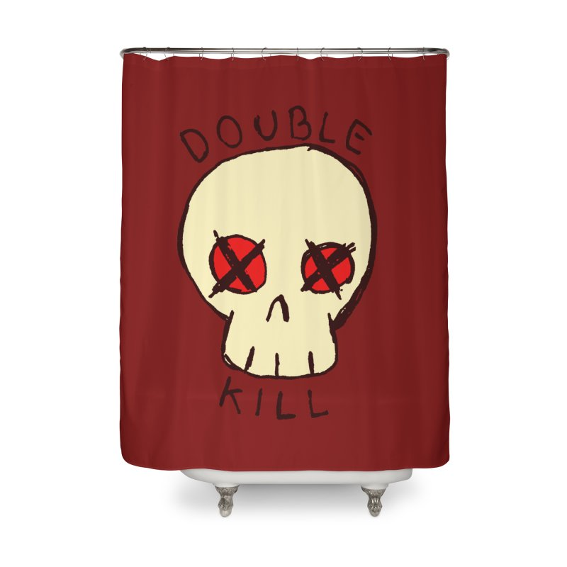 Double Kill Home Shower Curtain by alexcortez's Artist Shop