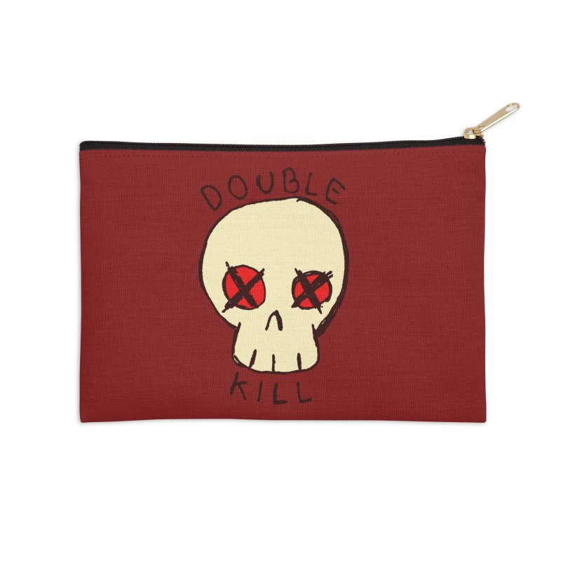 Double Kill Accessories Zip Pouch by alexcortez's Artist Shop