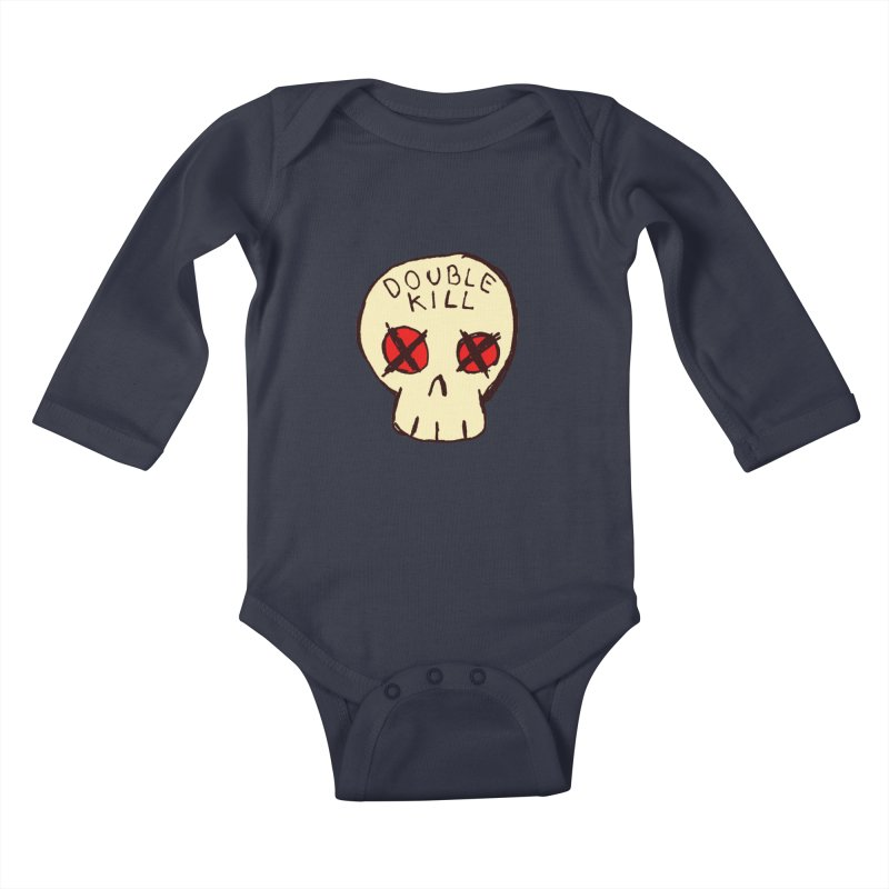 Double Kill Kids Baby Longsleeve Bodysuit by alexcortez's Artist Shop