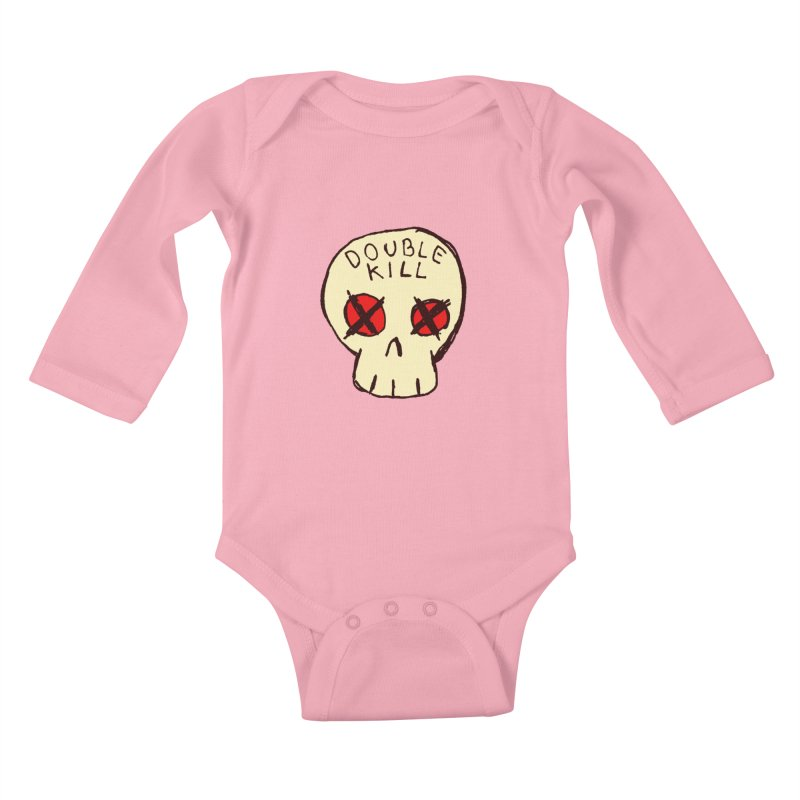 Double Kill Kids Baby Longsleeve Bodysuit by alexcortez's Artist Shop
