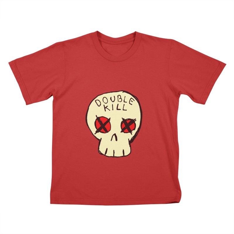 Double Kill Kids T-Shirt by alexcortez's Artist Shop