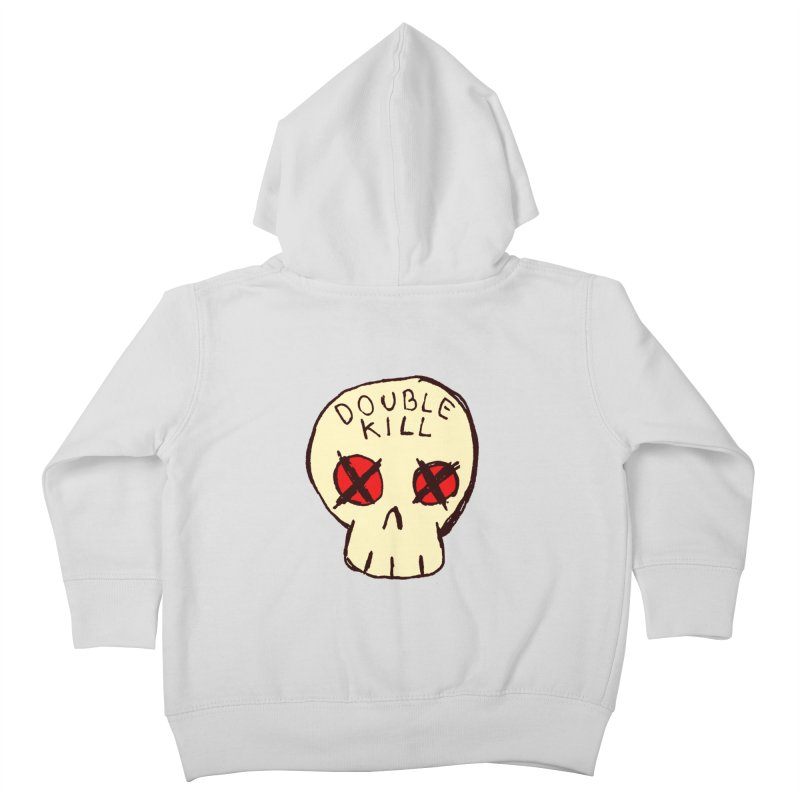 Double Kill Kids Toddler Zip-Up Hoody by alexcortez's Artist Shop