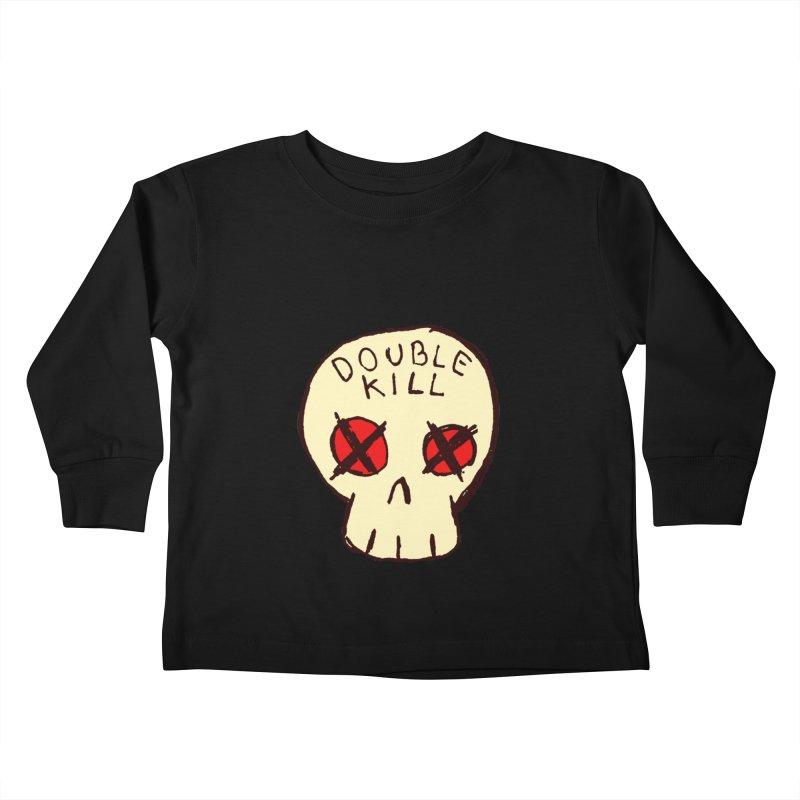 Double Kill Kids Toddler Longsleeve T-Shirt by alexcortez's Artist Shop