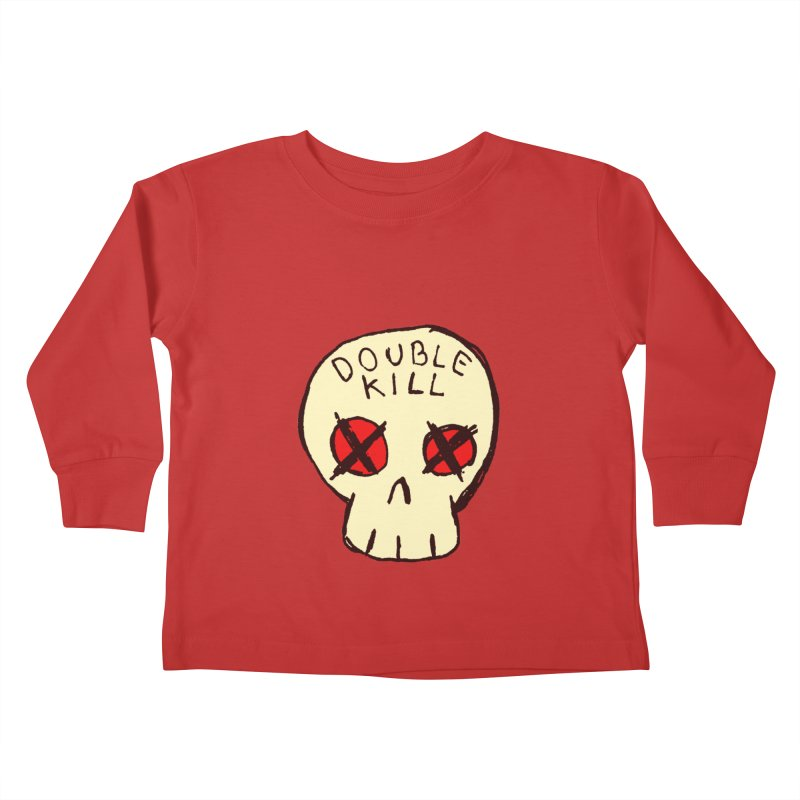 Double Kill Kids Toddler Longsleeve T-Shirt by alexcortez's Artist Shop