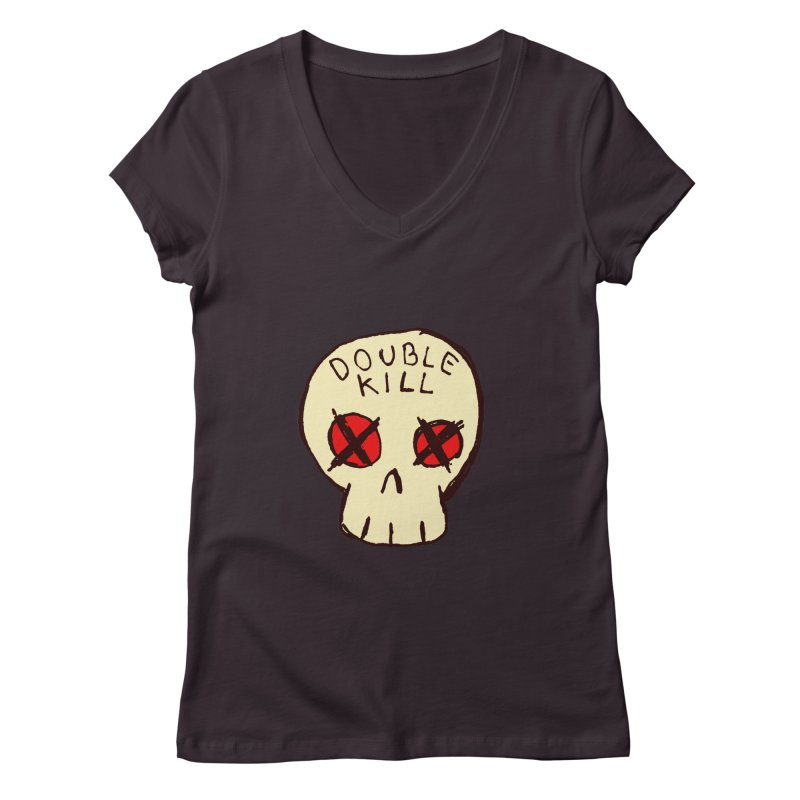 Double Kill Women's V-Neck by alexcortez's Artist Shop