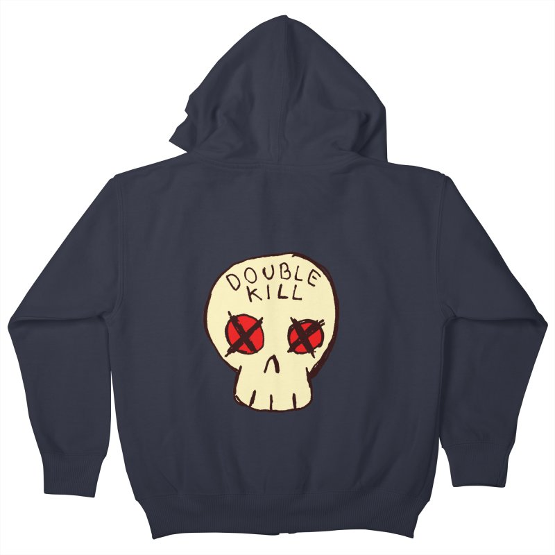 Double Kill Kids Zip-Up Hoody by alexcortez's Artist Shop