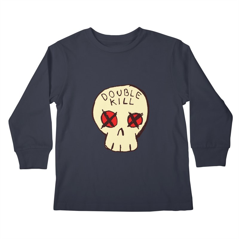 Double Kill Kids Longsleeve T-Shirt by alexcortez's Artist Shop