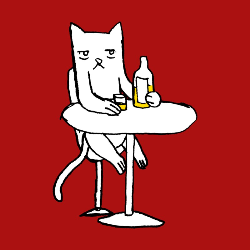 Drunk cat None  by alexcortez's Artist Shop