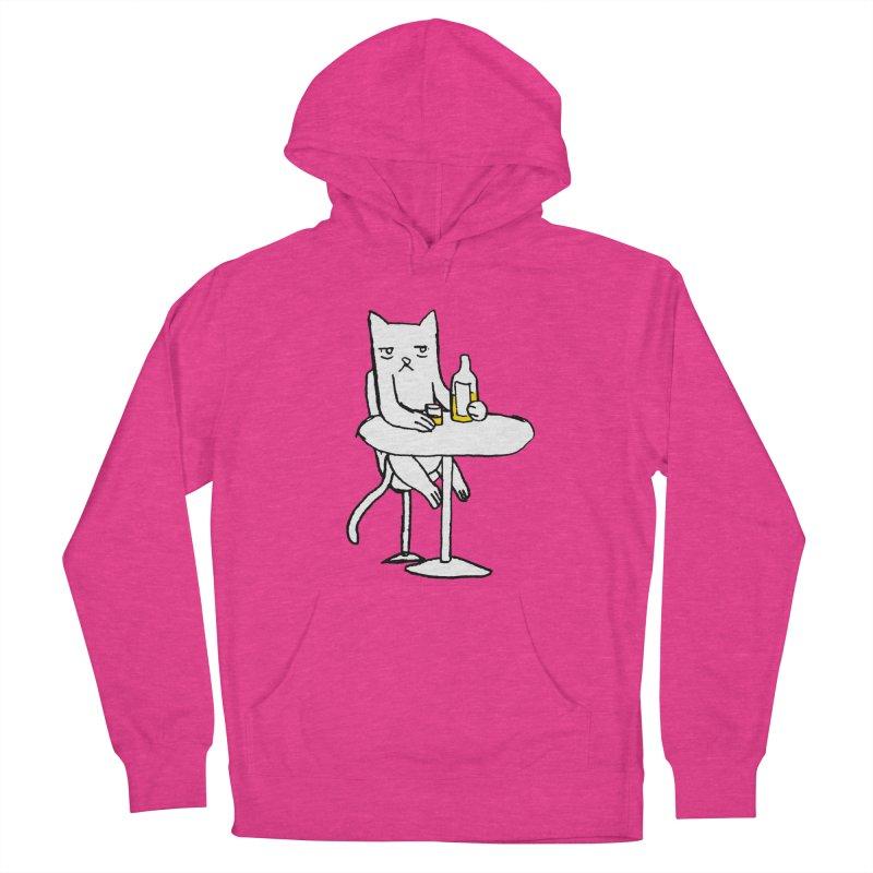 Drunk cat Men's Pullover Hoody by alexcortez's Artist Shop